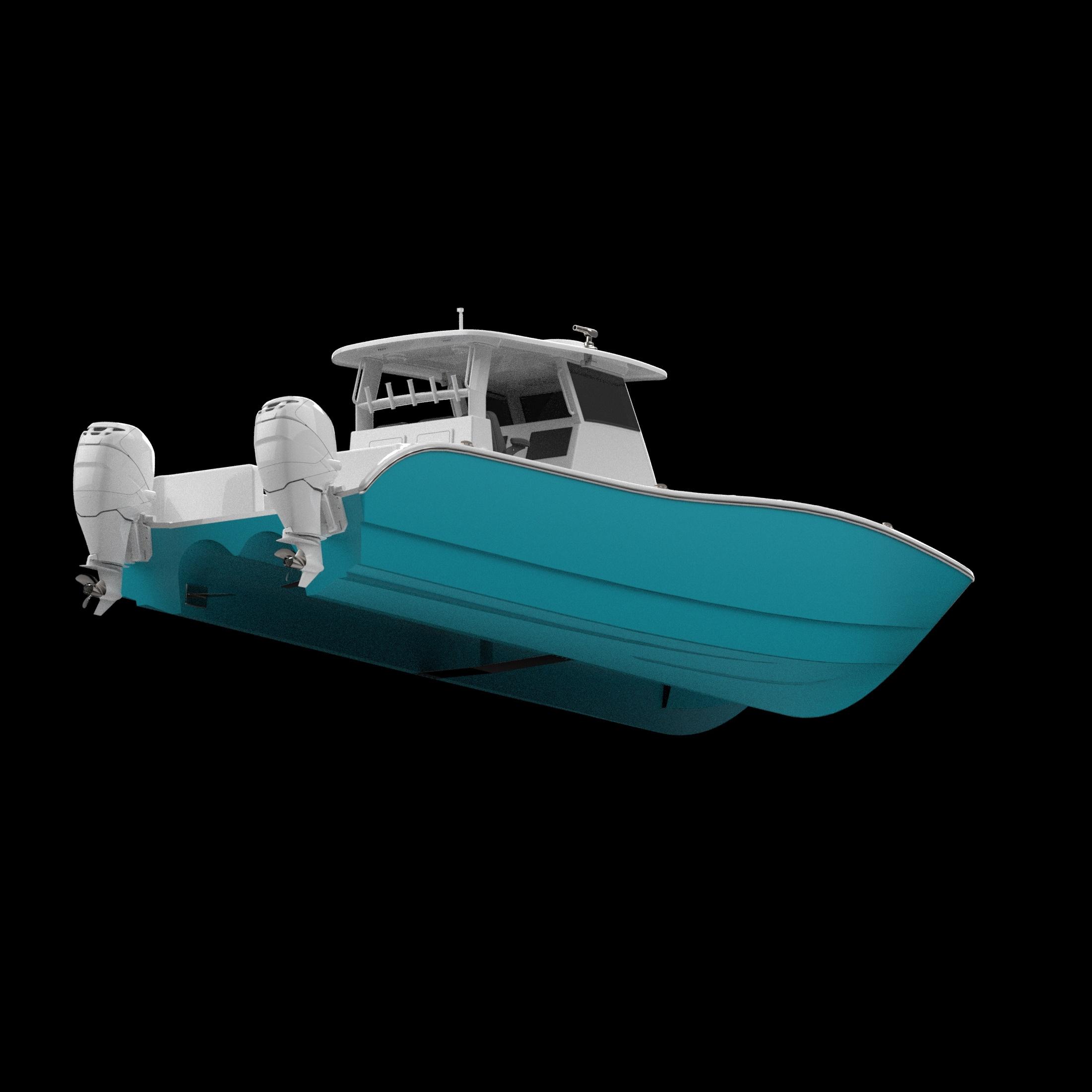 Shows the Internal Foil Catamaran